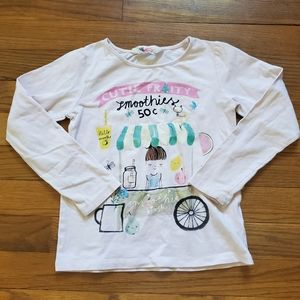 💜H&M Cutie Fruity Smoothie Kiosk long sleeve pink